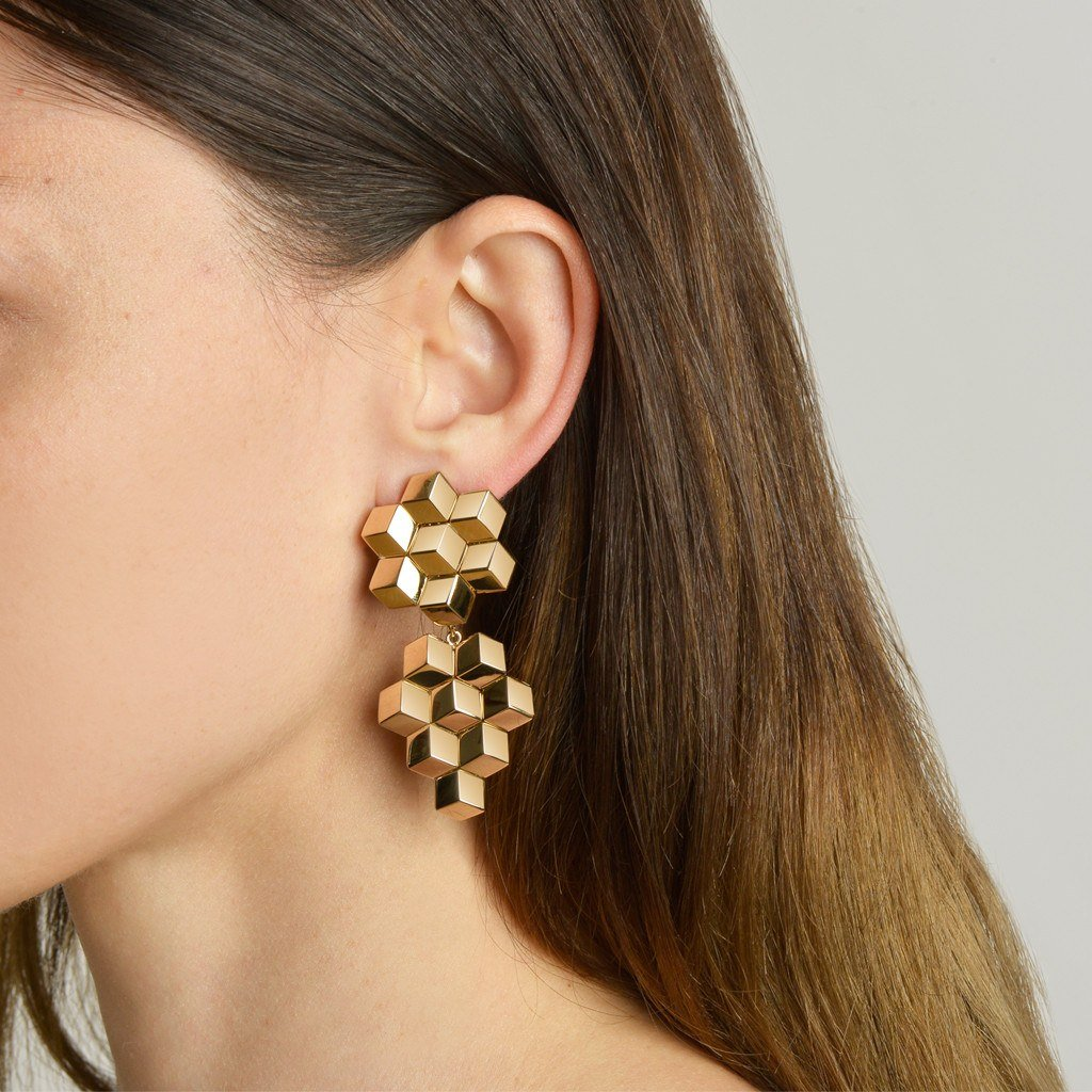 Yellow Gold 'Brillante®' Earrings, Grande - Paolo Costagli - 2