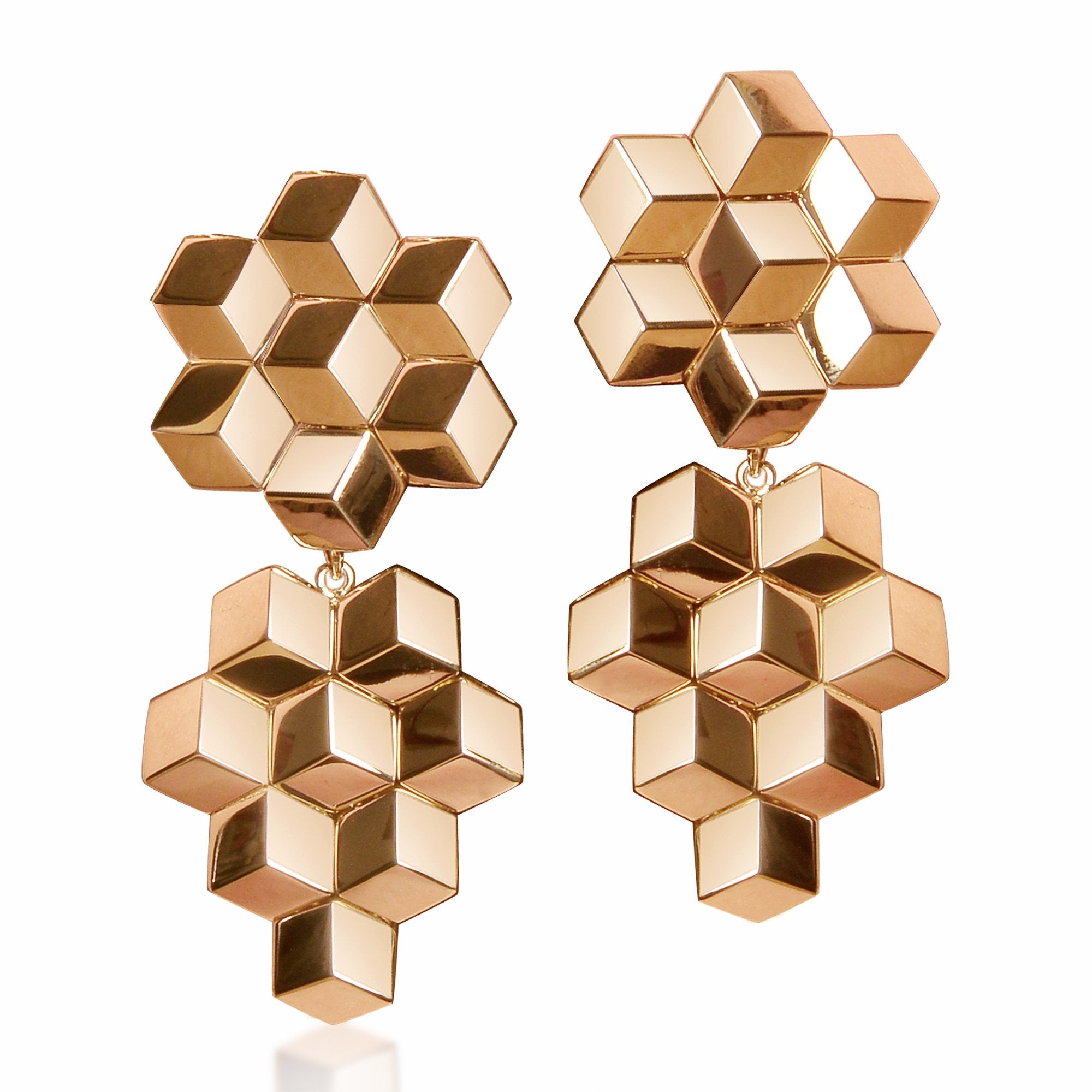 Rose Gold 'Brillante®' Earrings, Medium - Paolo Costagli - 1