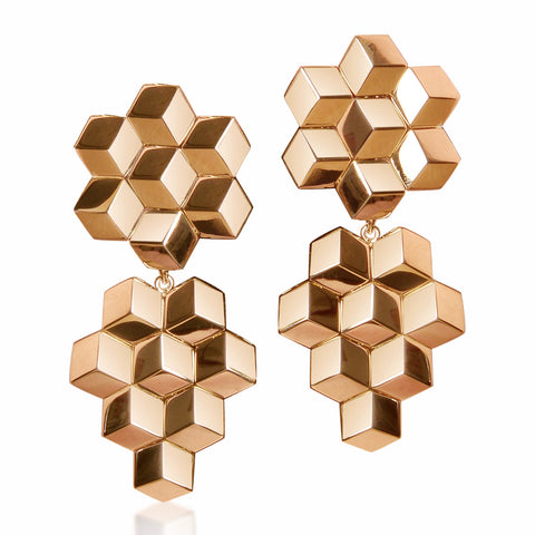 Rose Gold Brillante® Earrings, Grande - Paolo Costagli