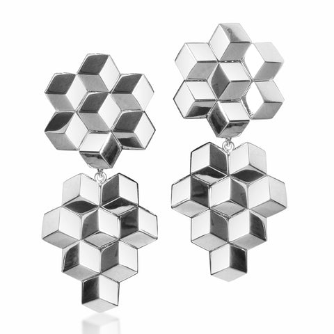 White Gold Brillante® Earrings, Grande - Paolo Costagli