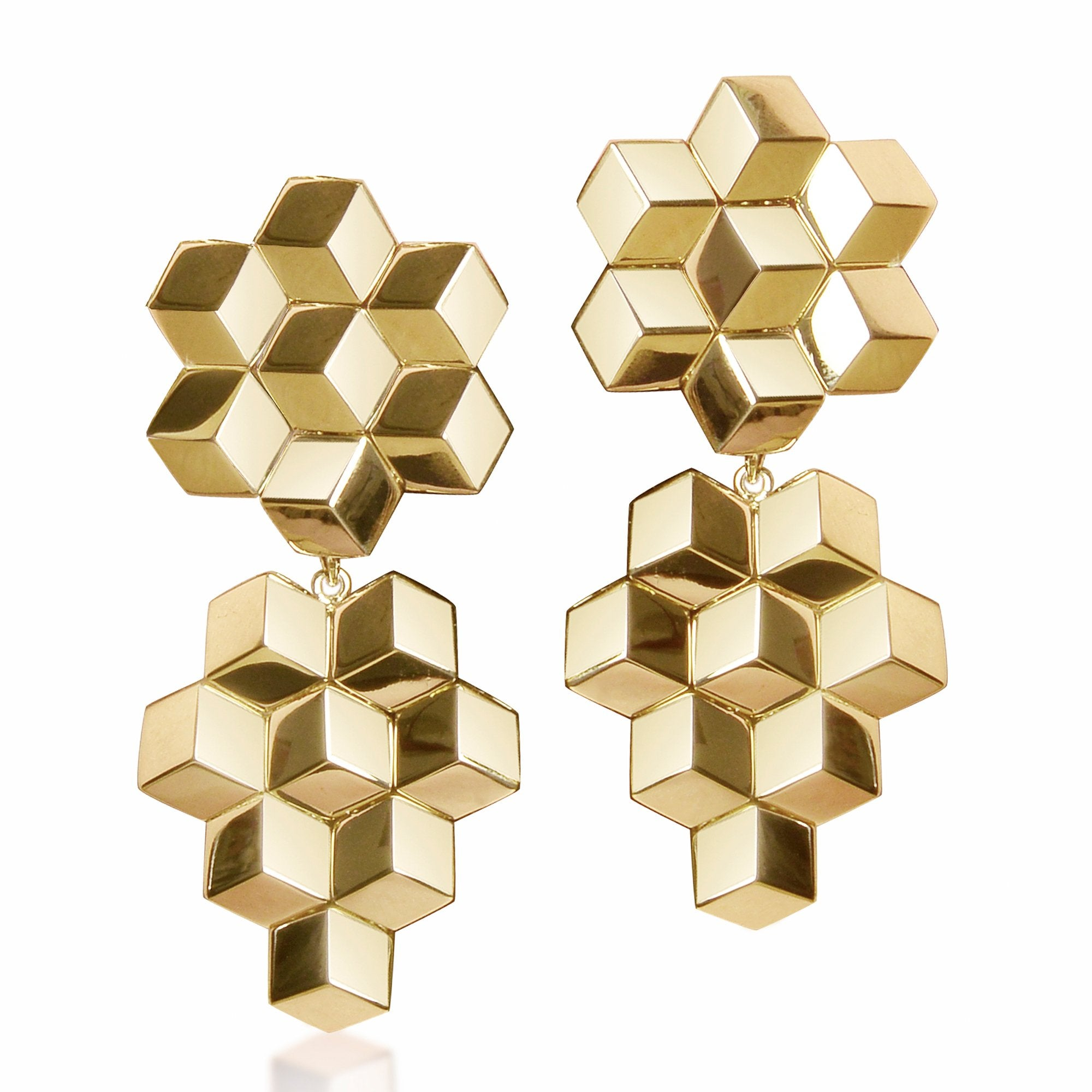 Yellow Gold 'Brillante®' Earrings, Medium - Paolo Costagli - 1