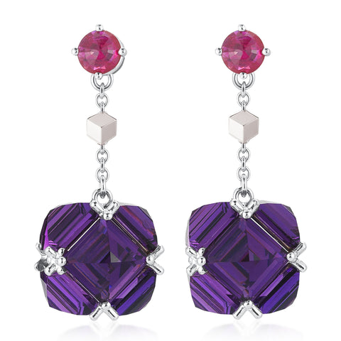 Ruby and Amethyst Very PC® Earrings, Petite - Paolo Costagli