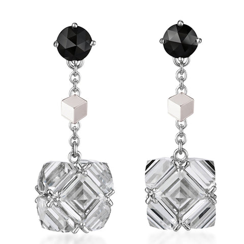 White Topaz and Black Diamond 'Very PC'® Earrings, Petite - Paolo Costagli - 1