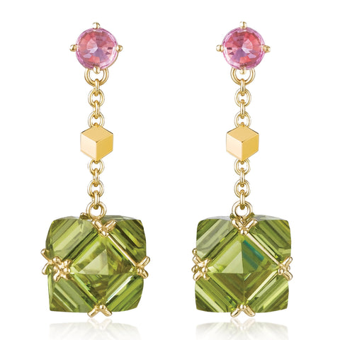 Peridot and Pink Sapphire Very PC® Earrings, Petite - Paolo Costagli