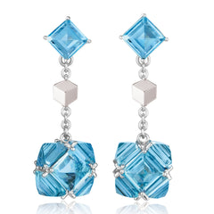 Blue Topaz Very PC® Earrings, Petite - Paolo Costagli