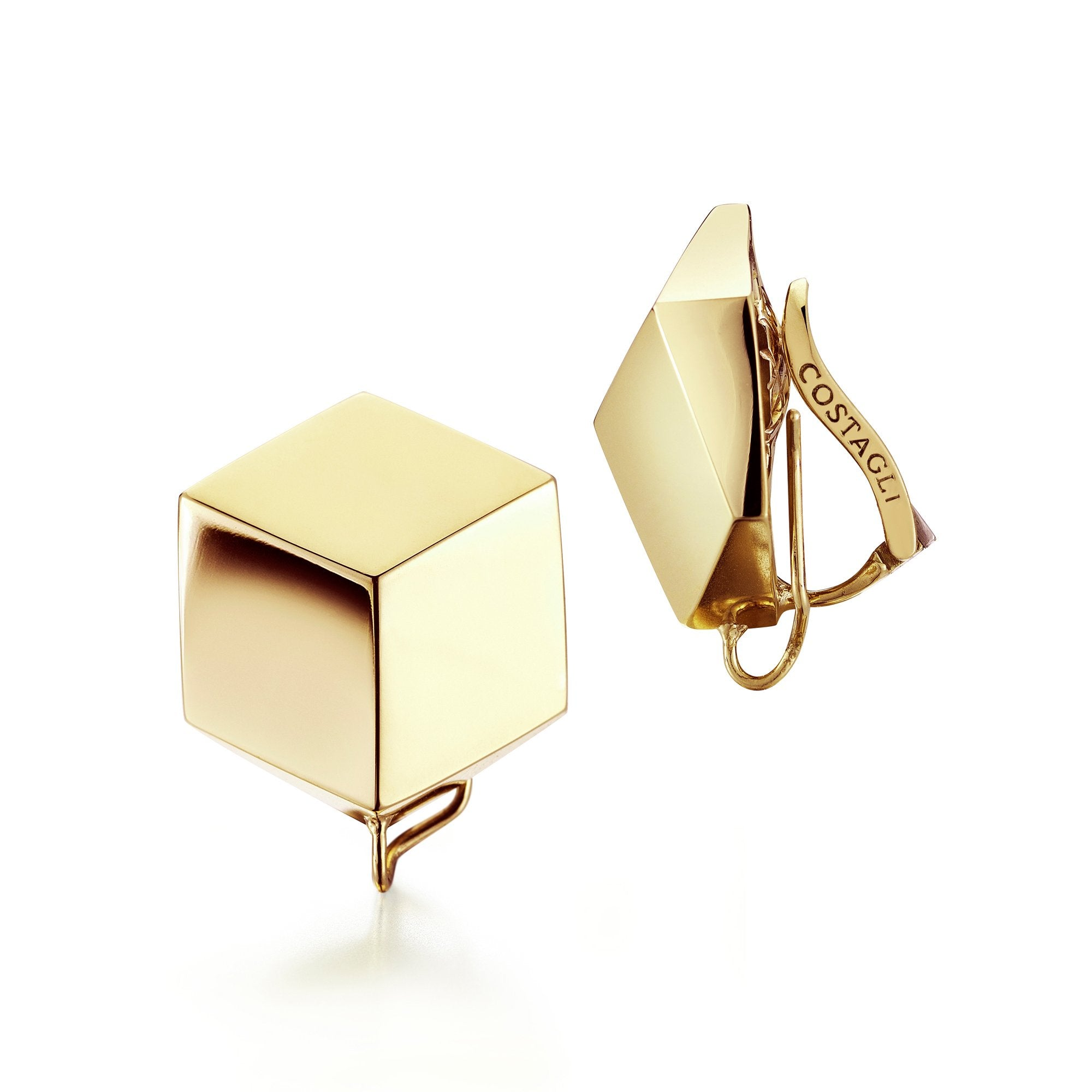 18kt Yellow Gold Brillante® Clip Earrings - Paolo Costagli