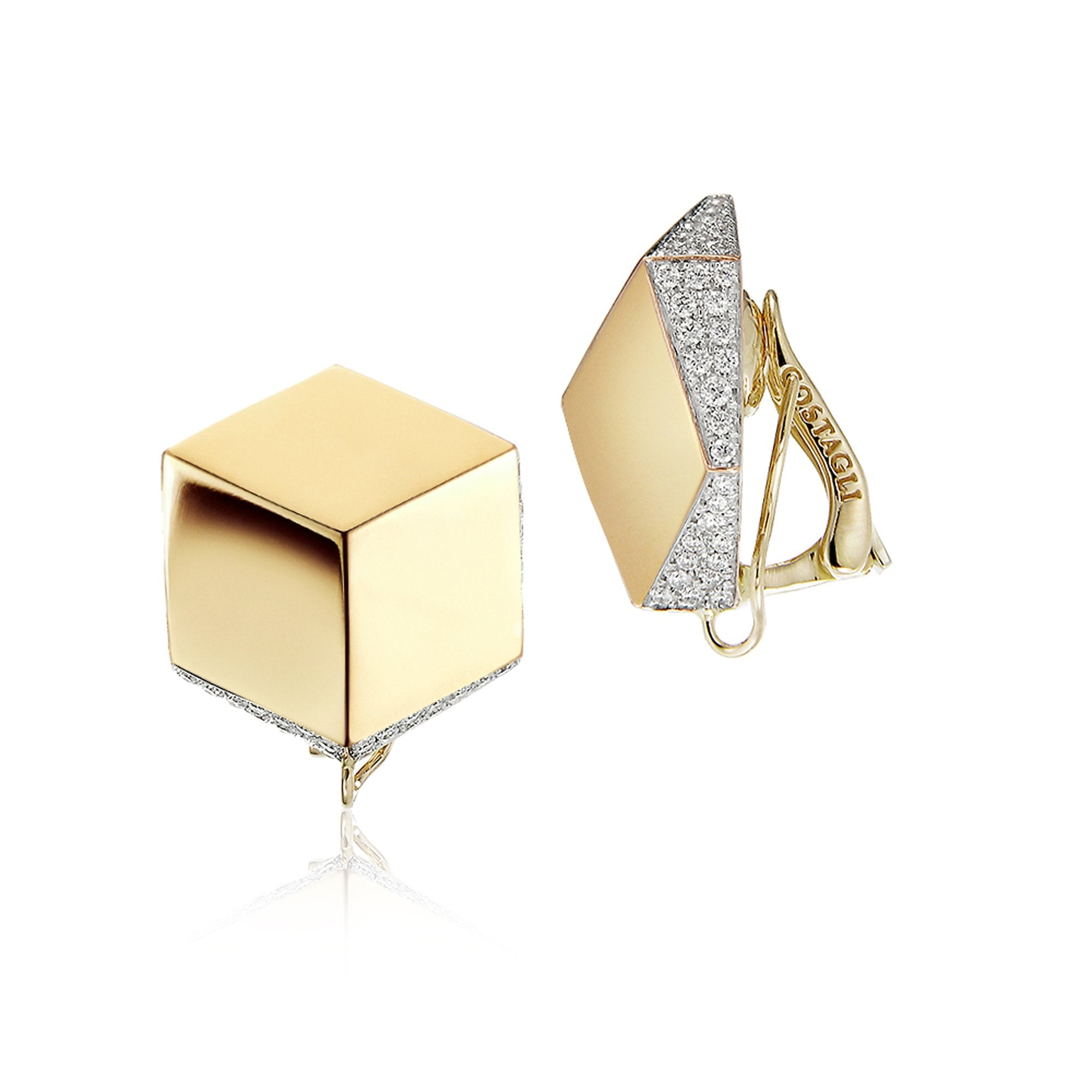 Yellow Gold and Diamond 'Brillante®' Clip Earrings - Paolo Costagli - 1