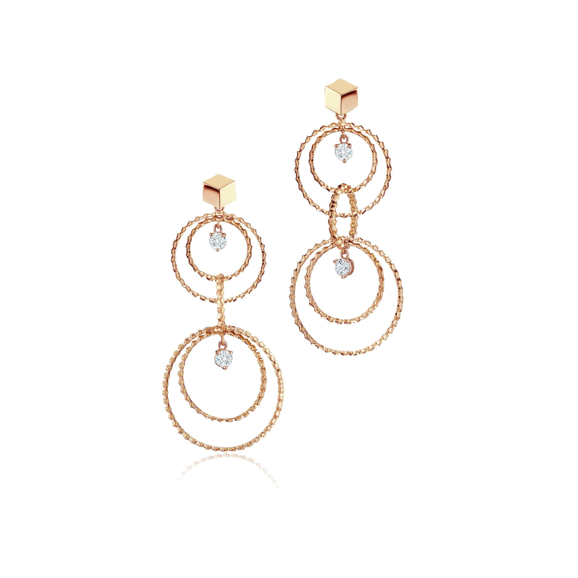 Rose Gold and Diamond 'Brillante® Circoli' Earrings, Medium - Paolo Costagli - 1