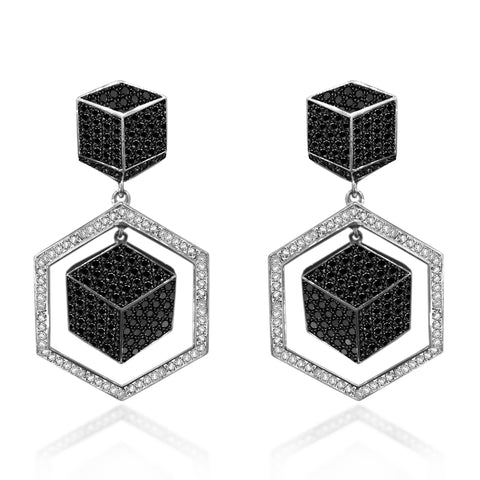 18kt Black And White Diamond Brillante® Earrings - Paolo Costagli