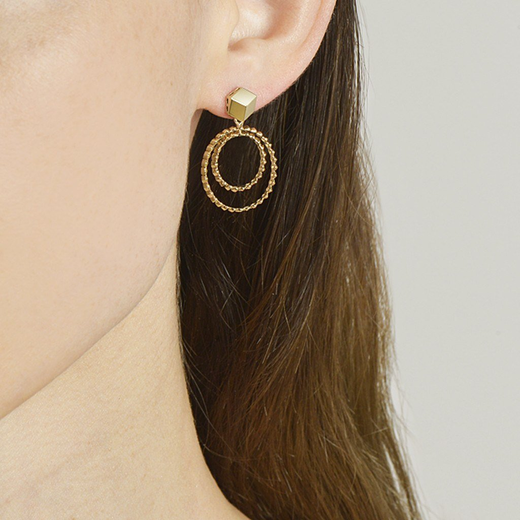 Yellow Gold 'Brillante® Circoli' Earrings, Petite - Paolo Costagli - 2