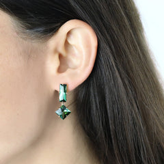 18kt Rose Gold Green Tourmaline Earrings - Paolo Costagli