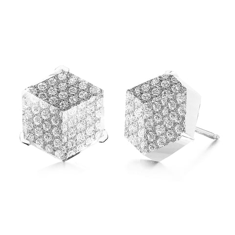 18kt White Gold White Topaz Brillante® Valentina Stud Earrings - Paolo Costagli