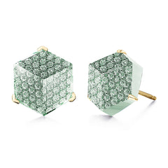 Green Amethyst and Diamond Brillante® Valentina Stud Earrings - Paolo Costagli