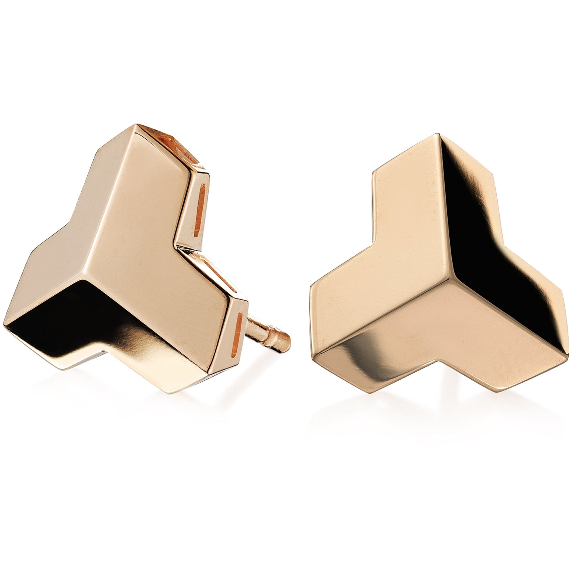 Rose Gold 'Brillantissimo' Stud Earrings, Grande - Paolo Costagli - 1