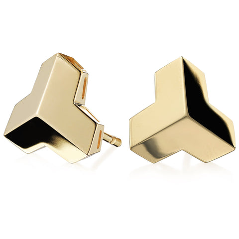 18kt Yellow Gold Brillantissimo Stud Earrings, Grande - Paolo Costagli