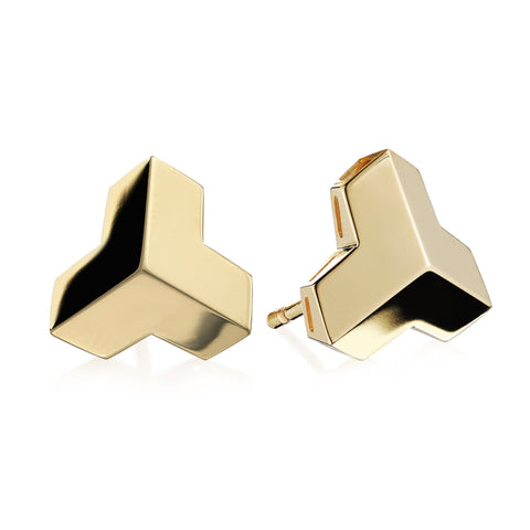 Yellow Gold Brillantissimo Stud Earrings, Petite - Paolo Costagli