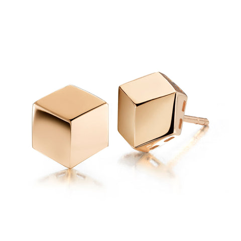 18kt Rose Gold Brillante® Stud Earrings - Paolo Costagli