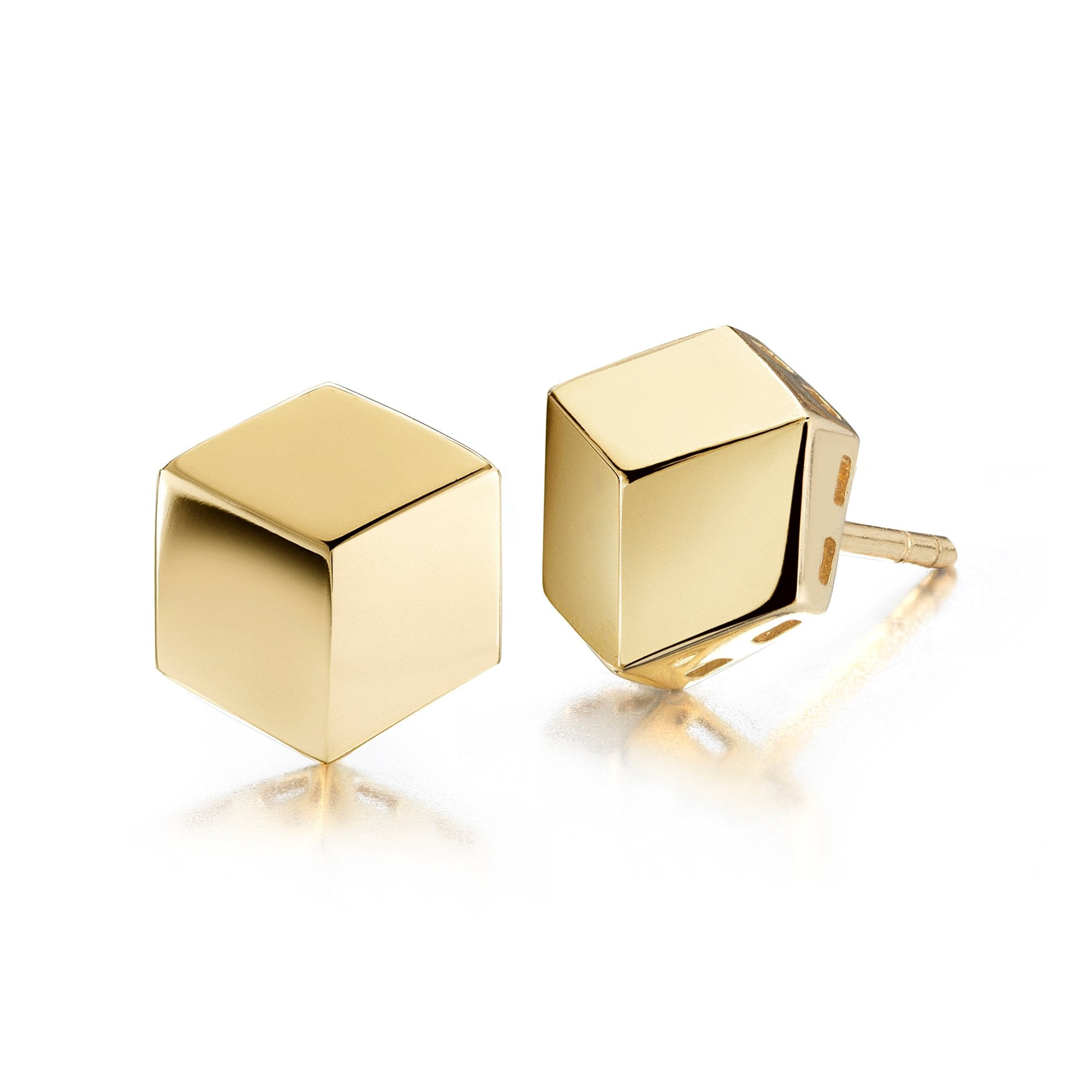 Yellow Gold 'Brillante®' Stud Earrings, Petite - Paolo Costagli - 1