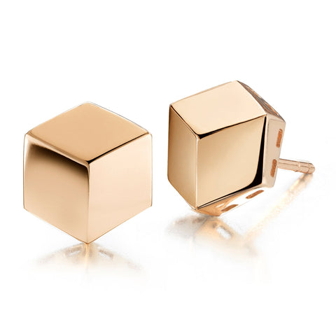 Rose Gold Brillante® Stud Earrings, Grande - Paolo Costagli