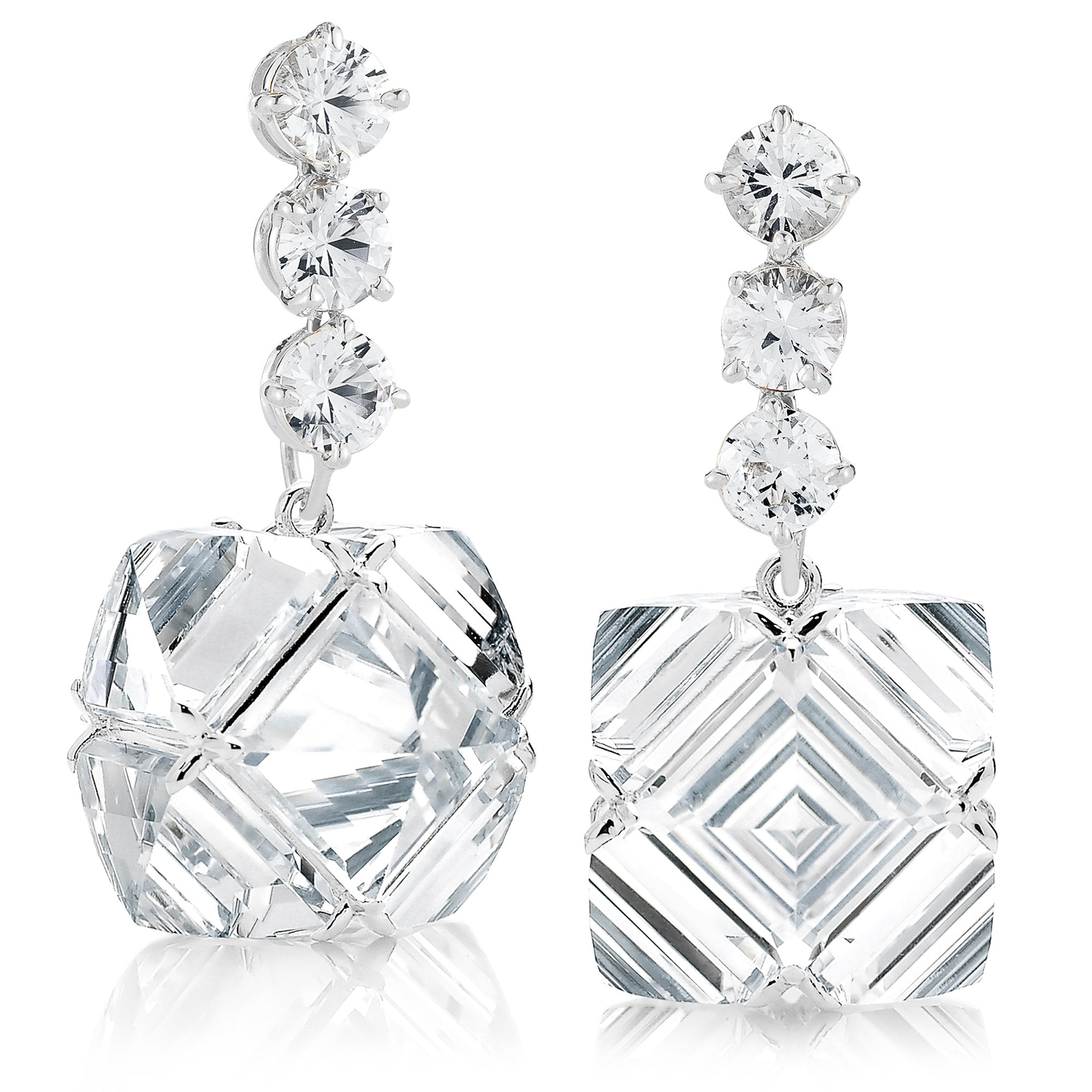 White Topaz and Sapphire Very PC® Earrings, Grande - Paolo Costagli