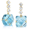 Yellow Gold Blue Topaz and White Sapphire Very PC® Earrings, Grande - Paolo Costagli