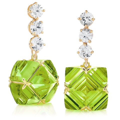 White Sapphire and Peridot Very PC® Earrings, Grande - Paolo Costagli