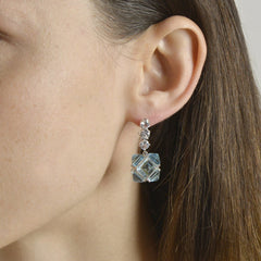 Blue Topaz and White Sapphire Very PC® Earrings, Grande - Paolo Costagli