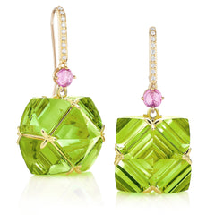 Peridot and Pink Sapphire Very PC® Earrings, Grande - Paolo Costagli