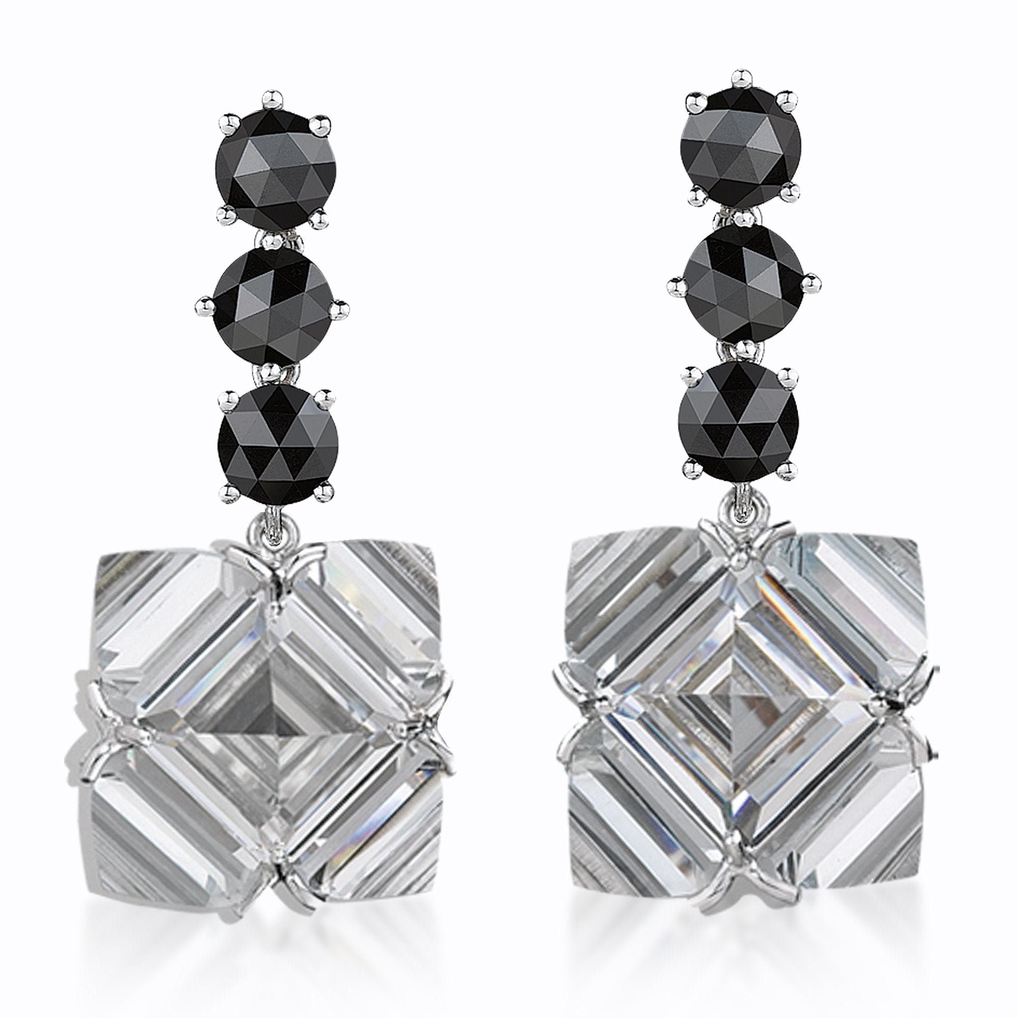 Black Diamond and 'Very PC'® White Topaz Earrings, Grande - Paolo Costagli - 1