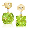 18kt Yellow Gold Very PC® Peridot Earrings with Diamonds, Grande - Paolo Costagli