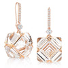 Rose Gold White Topaz and White Sapphire Very PC® Earrings, Grande - Paolo Costagli