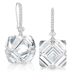 White Topaz and White Sapphire Very PC® Earrings with Diamonds, Grande - Paolo Costagli