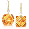 Citrine and White Sapphire Hook Top Very PC® Earrings, Grande - Paolo Costagli