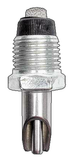 Threaded metal self-sealing water valve with bite guard