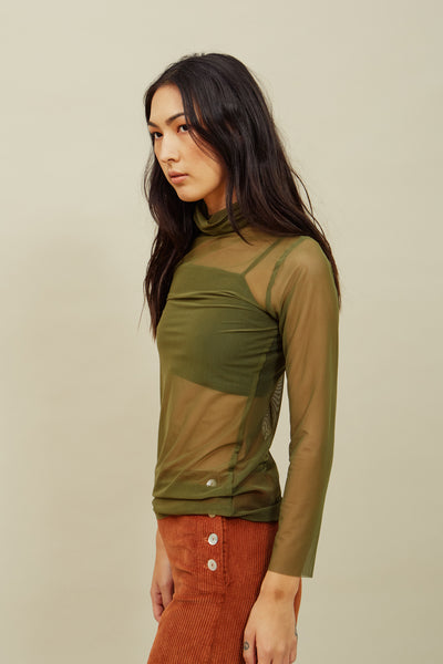 Stella Scrunch Turtleneck—Olive