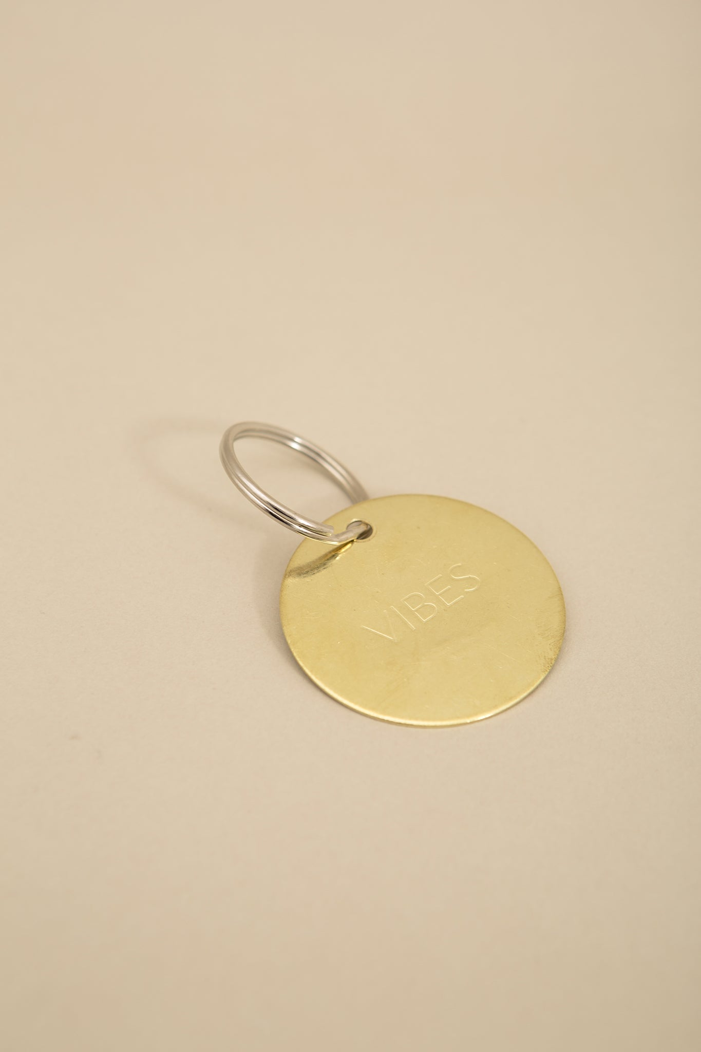 Vibes Brass Key Tag