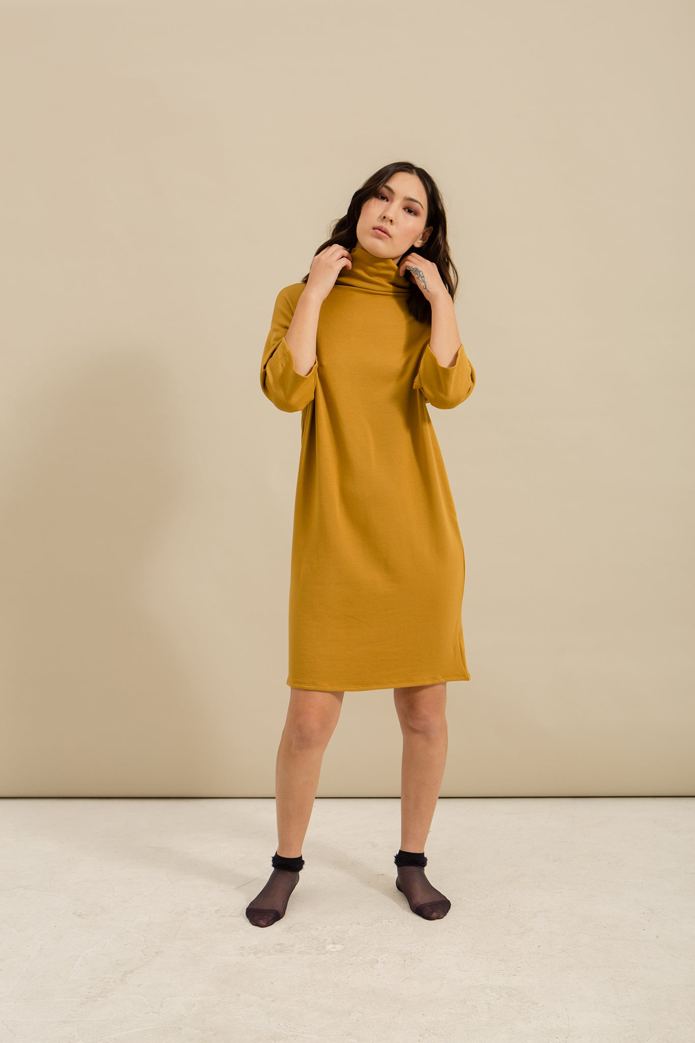 Golden Dust Fleece Dress