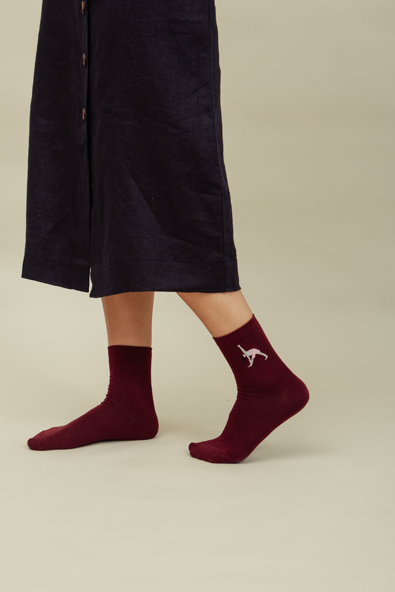 Wine Warrior Crew Sock