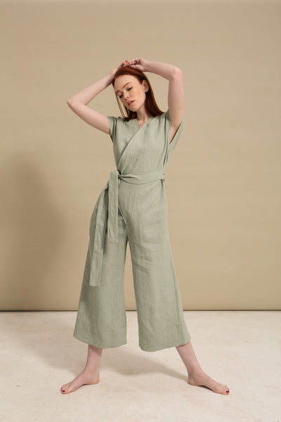 Sea Breeze Wrap Jumpsuit