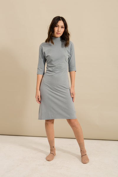 Stone Blue Turtleneck Dress