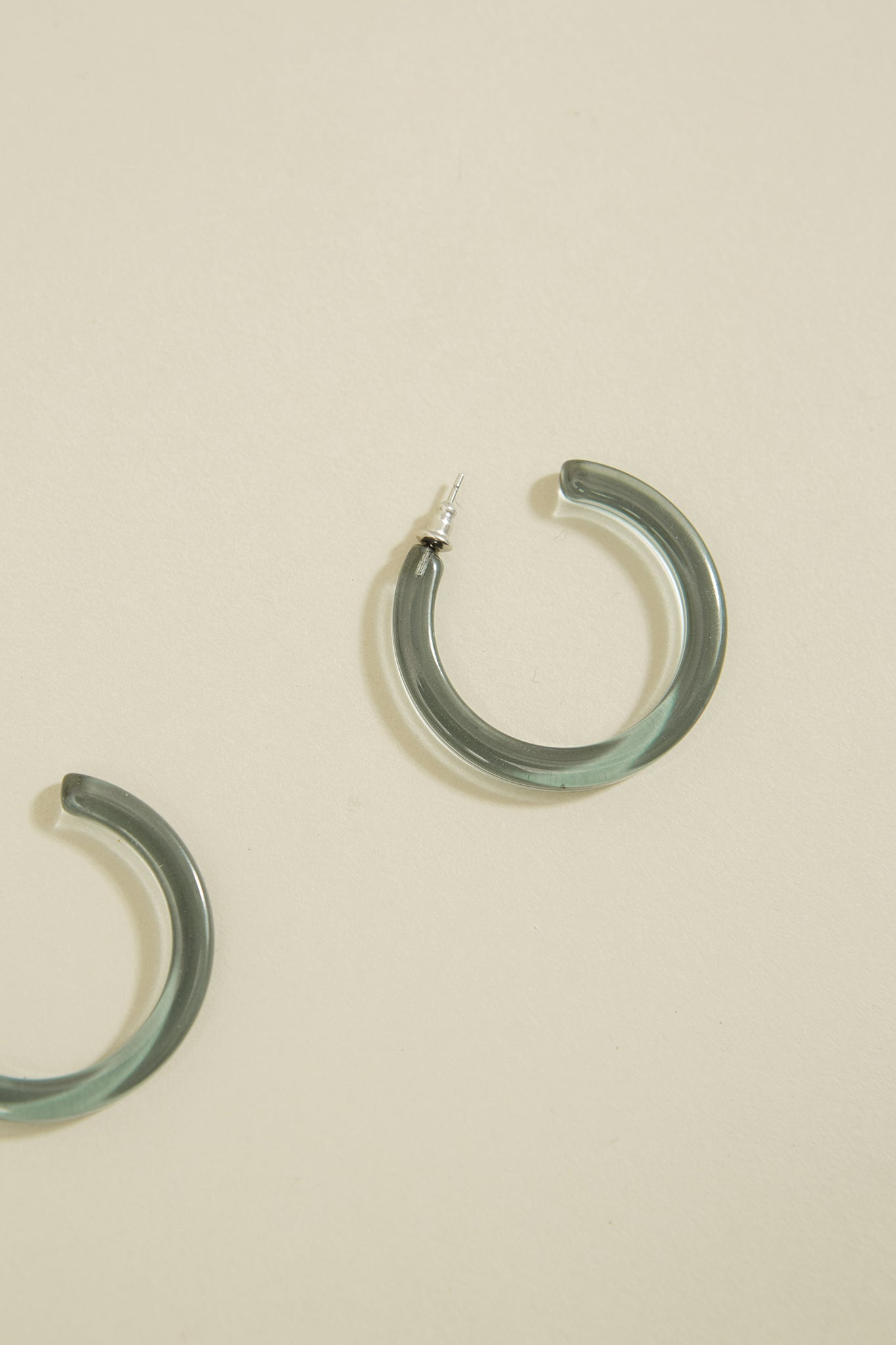 Illusion Blue Midi Hoops