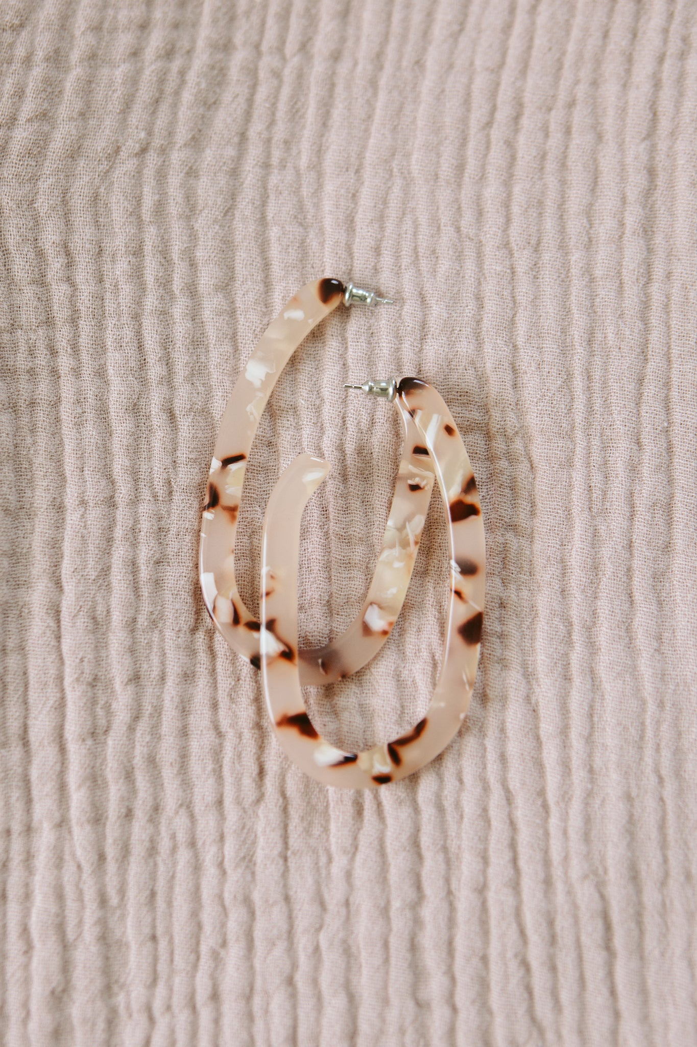 Blush Tortoise Margot X Hoops