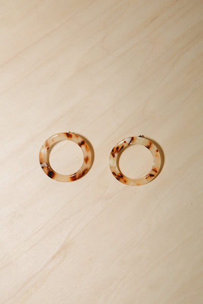 Blush Isla Side Hoops