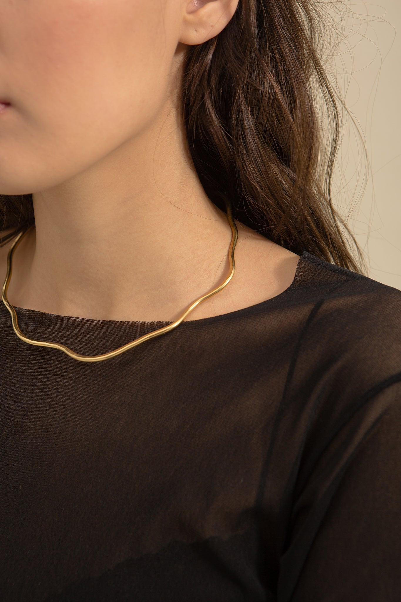 Brass Ripple Collar