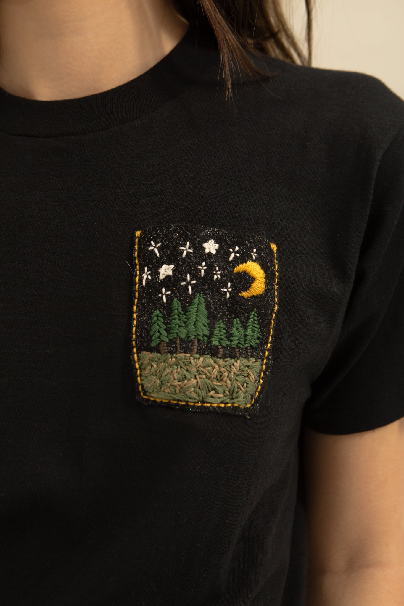One of a Kind—Black Starry Night Tee