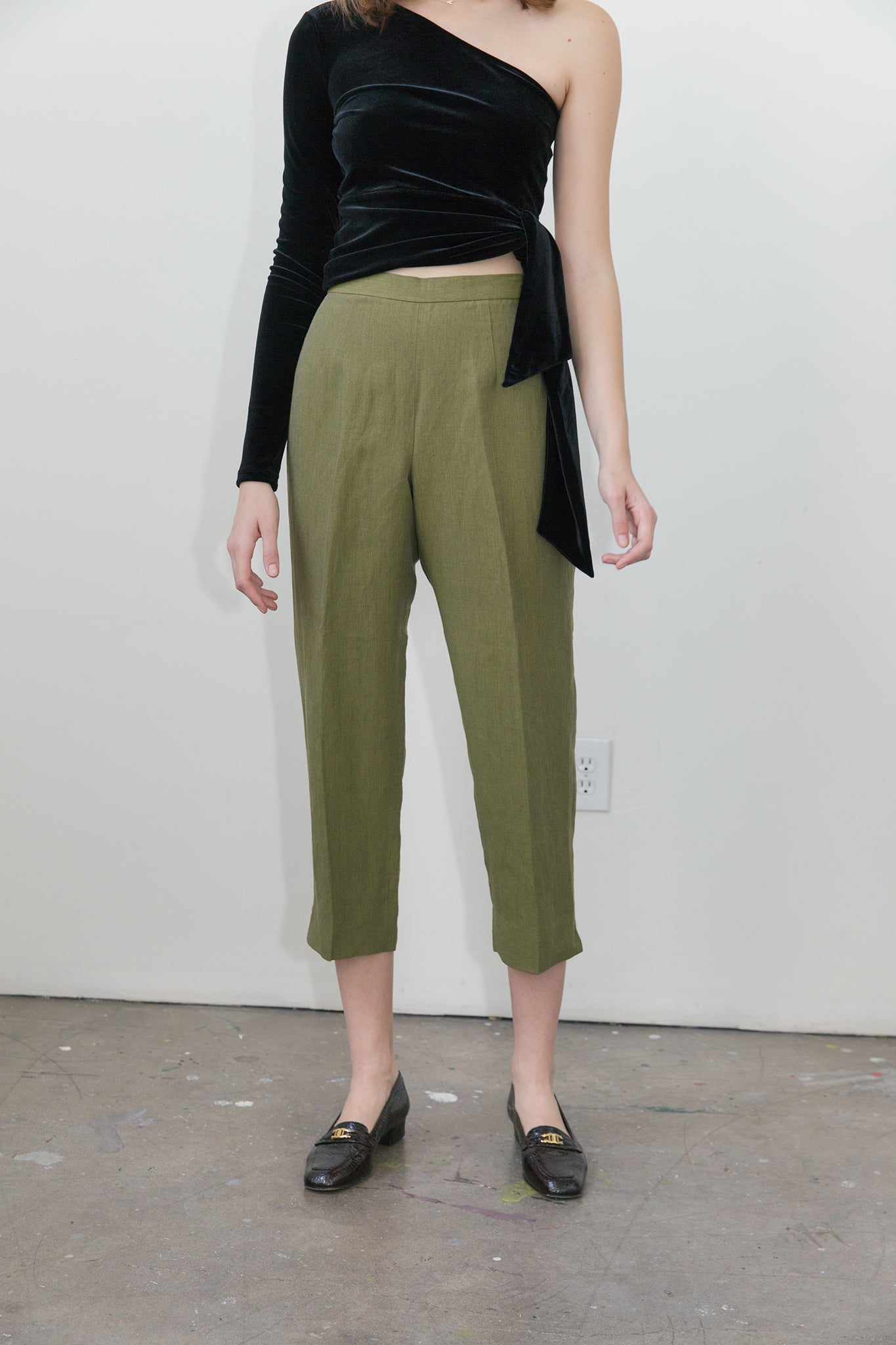 Vintage | Linen High Rise Trousers