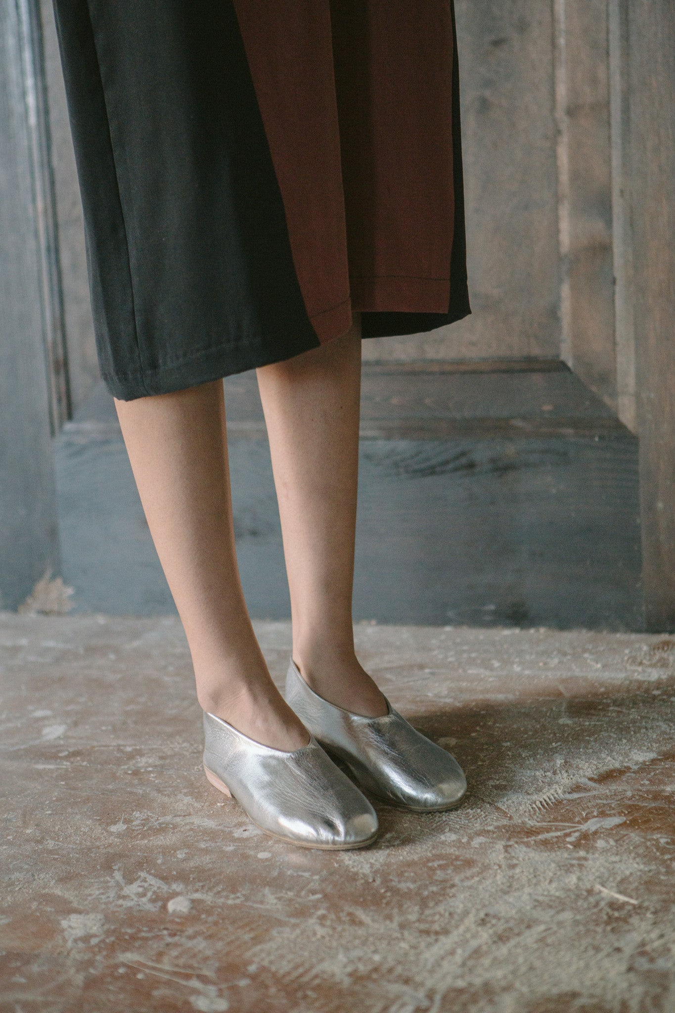 Metallic Slip On Shoe