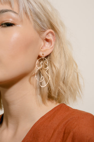 Rose Gold Nude Earring