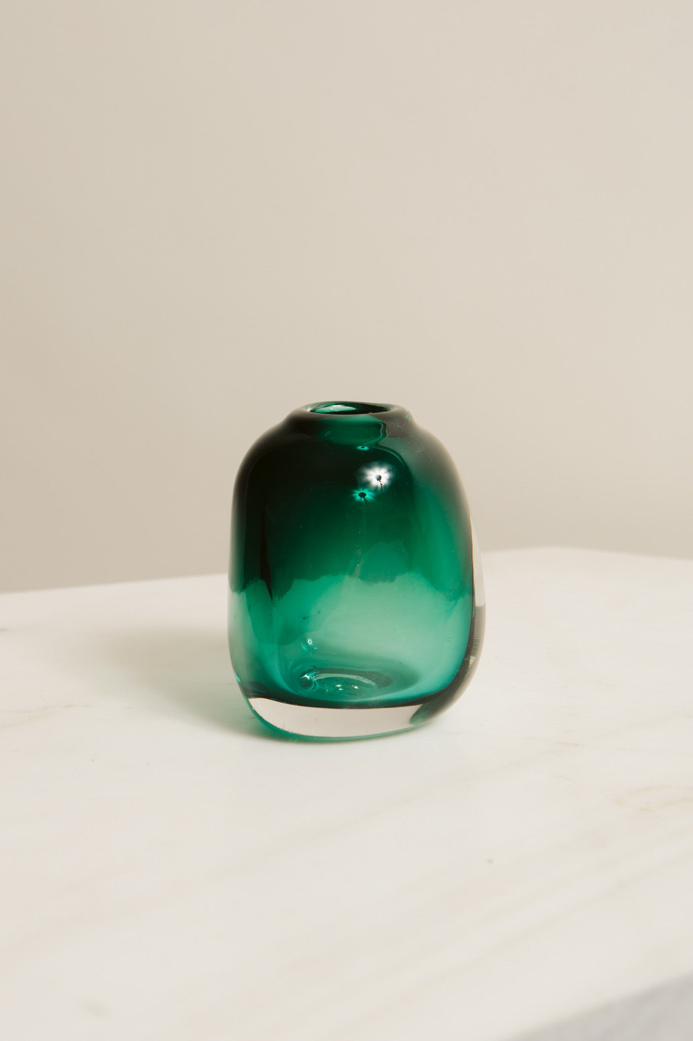 Medium Glass Vase—Emerald