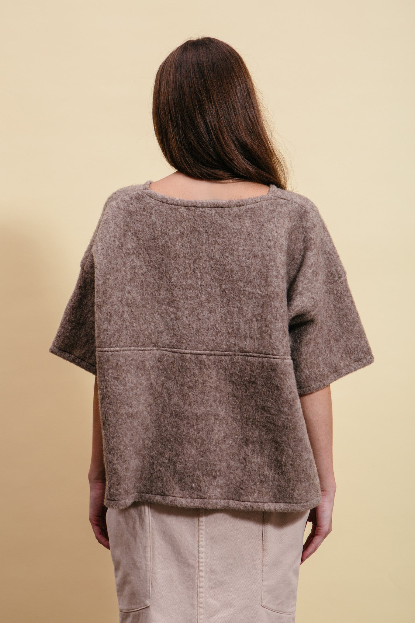 Oatmeal Wool Box Top